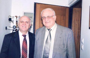 Με τον αγαπητό μου καθηγητή, Άγγελο Τσακλάγκανο