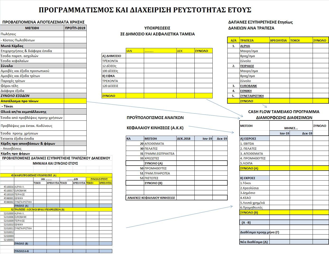 Προγραμματισμός και διαχείρισης Ρευστότητας Έτους
